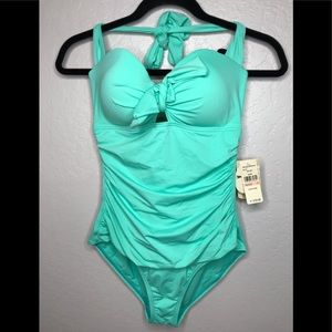 Tommy Bahama halter cup w bow pearl solid 10